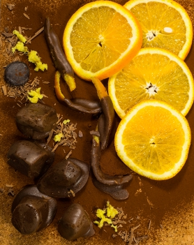 Chocolate coated orange