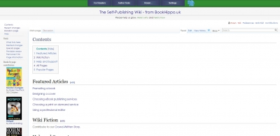 Screenshot of The Self-Publishing Wiki